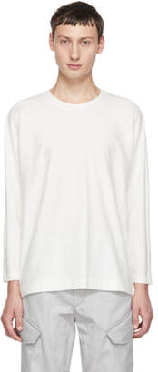 Issey Miyake Homme Plisse White Release Long Sleeve T-Shirt