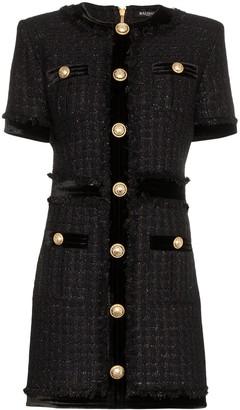 Balmain buttoned mini dress