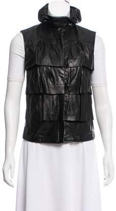 Diane von Furstenberg Cupcake Leather Vest