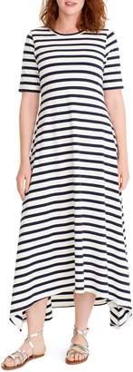 J.Crew Stripe Knit Maxi Dress