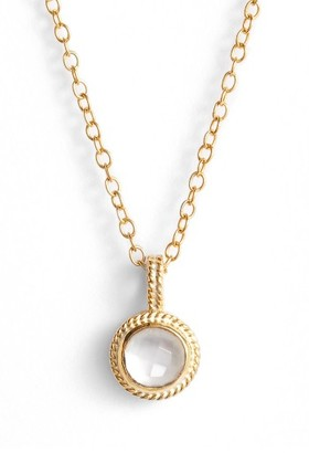 Women's Anna Beck Semiprecious Stone Round Drop Pendant Necklace $155 thestylecure.com