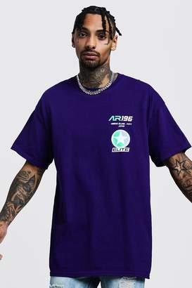 boohoo Oversized Race Design Graphic T-Shirt