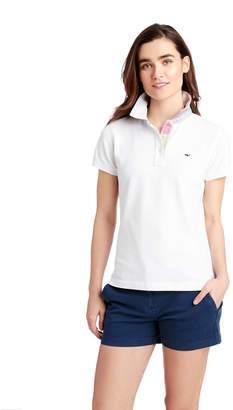 Vineyard Vines Heritage Original Patchwork Under Collar Pique Polo