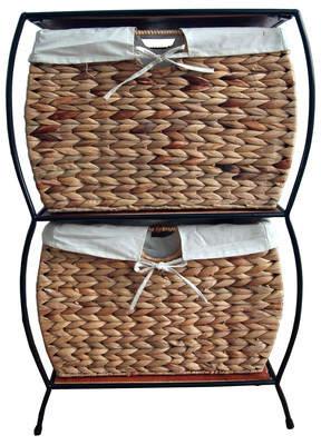 Pangaea Seagrass Basket Storage 2 Drawer Vertical Filing Cabinet