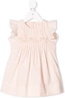 Chloé Kids ruffle trimmed pleated dress