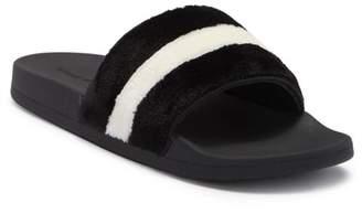 Steve Madden Resort Faux Fur Slide Sandals