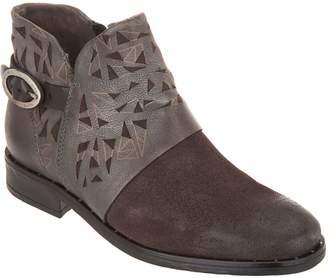 Miz Mooz Leather Buckle Ankle Boots - Erie