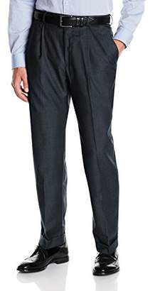 Louis Raphael Men's Straight Fit Comfort Waist Pleated Suit Separate Pant