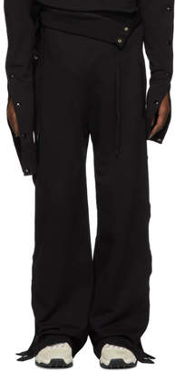 Diesel Red Tag Black Glenn Martens Edition Cotton Lounge Pants
