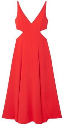 Jason Wu Grey Cutout Crepe De Chine Midi Dress