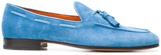 Santoni lace through tassel loafers