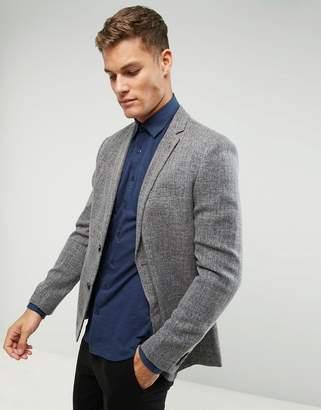 Farah Skinny Textured Blazer