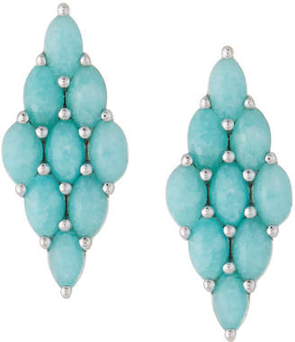 Elizabeth Showers Honeycomb Post Earrings, Amazonite