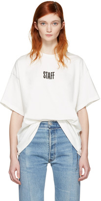 Vetements White Hanes Edition Quick Made Oversized 'Staff' T-Shirt $430 thestylecure.com