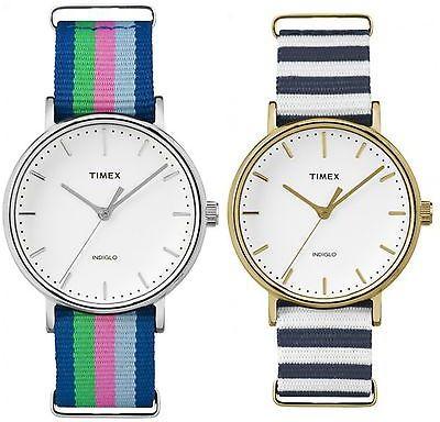 TimexTimex Women's Weekender Fairfield | Striped Strap Minimal Dial | Casual Watch