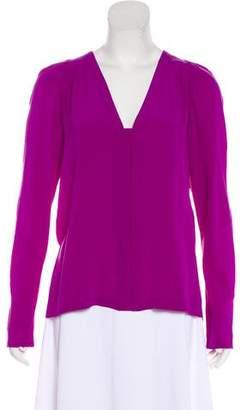 Stella McCartney Long Sleeve Silk Top