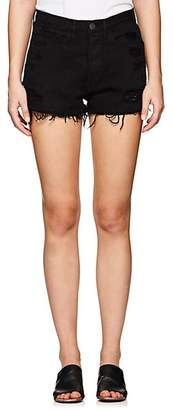 3x1 Women's W4 Carter Distressed Denim Cutoff Shorts - Black