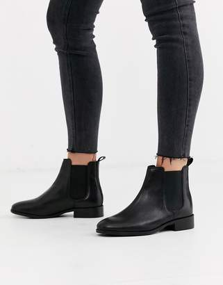 Office Bramble black leather chelsea boots