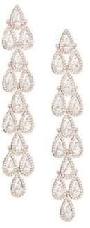 Adriana Orsini Teardrop Crystal Linear Earrings