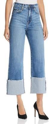 Nobody Milla Wide-Leg Cuffed Jeans in Influencer