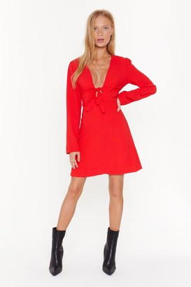 Nasty Gal Womens Two For One Double Tie Mini Dress - Red - 6, Red