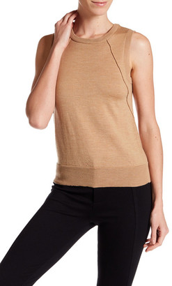 MILLY Sleeveless Wool Sweater $180 thestylecure.com