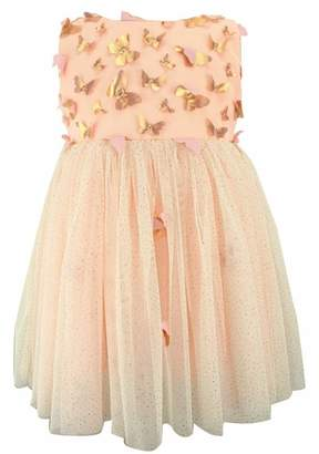 Popatu Butterfly Applique Tulle Dress
