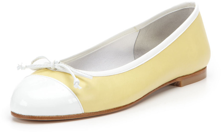 French Sole Index Cap-Toe Ballet Flat