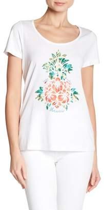 Tommy Bahama Hawaii Floral Pineapple Short Sleeve Tee