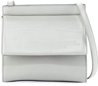 Calvin Klein Fold-Over Calf Leather Crossbody Bag