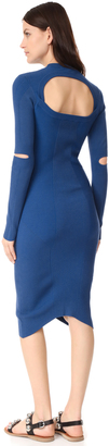 DKNY Dress with Sleeve Cutouts $300 thestylecure.com