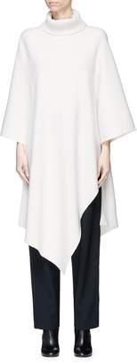 Chloé Asymmetric hem cashmere knit turtleneck cape