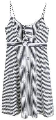 MANGO Striped strap dress