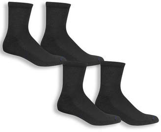 Dr. Scholl's Dr. Scholls Diabetes And Circulatory 4 Pair Low Cut Socks-Mens