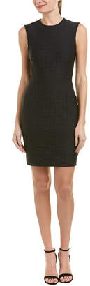 Yigal Azrouel Embossed Sheath Dress