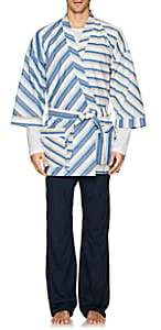 Barneys New York Men's Striped Cotton Poplin Kimono