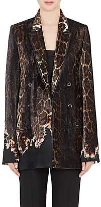 Haider Ackermann Women's Leopard-Print Velvet Double-Breasted Blazer $5,300 thestylecure.com