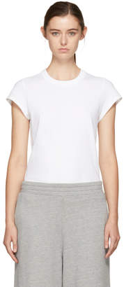 Alexander Wang White Cap Sleeve Fitted Bodysuit