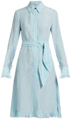 Altuzarra Laguna checked dress