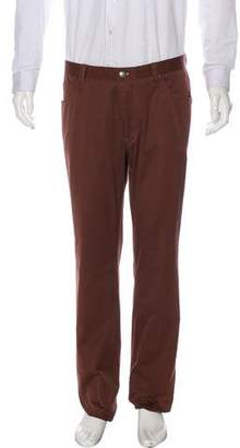 Luciano Barbera Flat Front Cashmere-Blend Pants w/ Tags