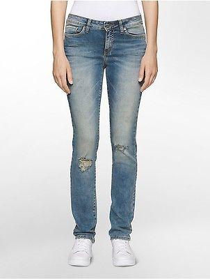 Calvin KleinCalvin Klein Womens Ultimate Skinny Distressed Jeans