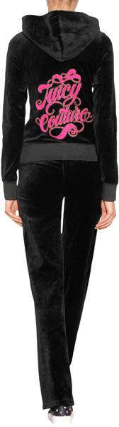 Juicy Couture Fancy Script Velour Sweatpants