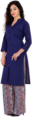 Lapis BrightJet Soidapis Bue Cotton Women Fashion Kurti FrontSit Kurta