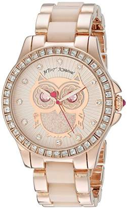 Betsey Johnson Women's BJ00246-10 Analog Display Quartz Watch