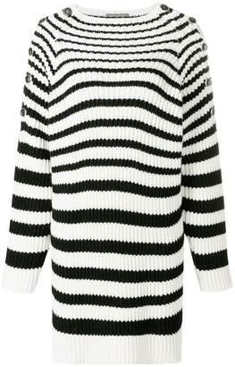 Alberta Ferretti striped oversized jumper