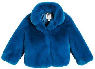 Milly Minis Faux Fur Jacket, Size 4-7