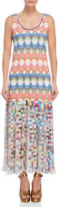 Save The Queen Rainbow Pattern Print Sleeveless Dress