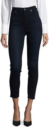 7 For All Mankind Women's High-Rise Denim Jeans - Dark Blue, Size 28 (4-6)