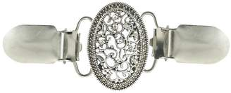 SIYWINA Sweater Clip for Back of Waist Crystal Filigree Dress Collar Clip Women Shirt Clip