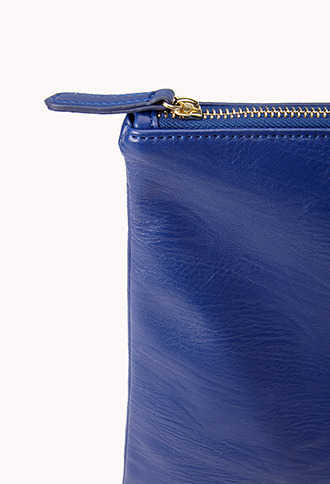 Forever 21 Classic Oversized Faux Leather Clutch